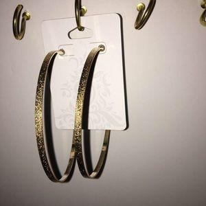 X Large Hoop Earrings (hammer look)